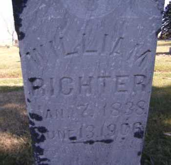 RICHTER, WILLIAM (CLOSE-UP) - Moody County, South Dakota | WILLIAM (CLOSE-UP) RICHTER - South Dakota Gravestone Photos