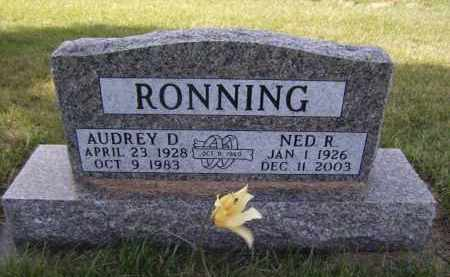 RONNING, AUDREY D - Moody County, South Dakota | AUDREY D RONNING - South Dakota Gravestone Photos