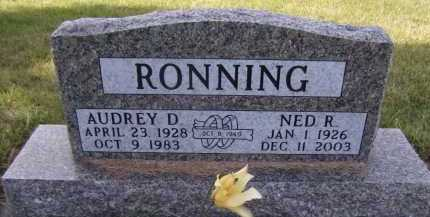 RONNING, AUDREY D - Moody County, South Dakota | AUDREY D RONNING - South Dakota Gravestone Photos