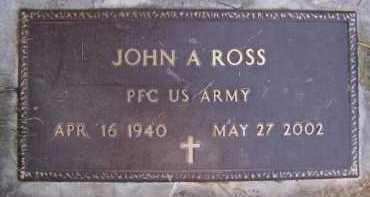 ROSS, JOHN A - Moody County, South Dakota   JOHN A ROSS - South Dakota Gravestone Photos