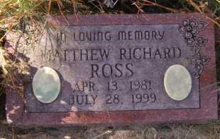 ROSS, MATTHEW RICHARD - Moody County, South Dakota | MATTHEW RICHARD ROSS - South Dakota Gravestone Photos