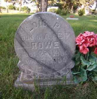 ROWE, LOIS P - Moody County, South Dakota   LOIS P ROWE - South Dakota Gravestone Photos