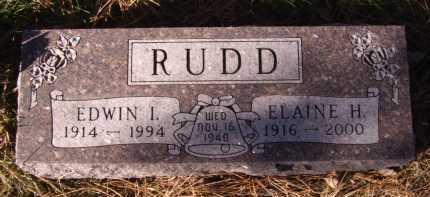 RUDD, EDWIN I. - Moody County, South Dakota   EDWIN I. RUDD - South Dakota Gravestone Photos