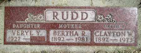 RUDD, VERYL Y. - Moody County, South Dakota   VERYL Y. RUDD - South Dakota Gravestone Photos