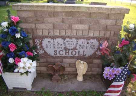 SCHOLL, DON A - Moody County, South Dakota | DON A SCHOLL - South Dakota Gravestone Photos