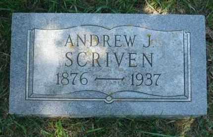 SCRIVEN, ANDREW J. - Moody County, South Dakota | ANDREW J. SCRIVEN - South Dakota Gravestone Photos