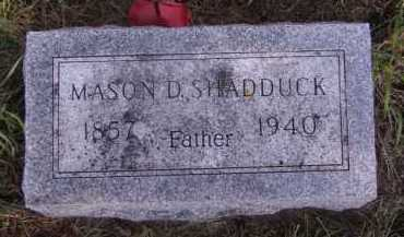 SHADDUCK, MASON D - Moody County, South Dakota   MASON D SHADDUCK - South Dakota Gravestone Photos
