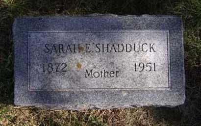 SHADDUCK, SARAH E - Moody County, South Dakota | SARAH E SHADDUCK - South Dakota Gravestone Photos