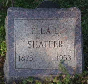 SHAFFER, ELLA L - Moody County, South Dakota   ELLA L SHAFFER - South Dakota Gravestone Photos