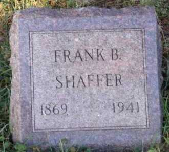 SHAFFER, FRANK B - Moody County, South Dakota | FRANK B SHAFFER - South Dakota Gravestone Photos