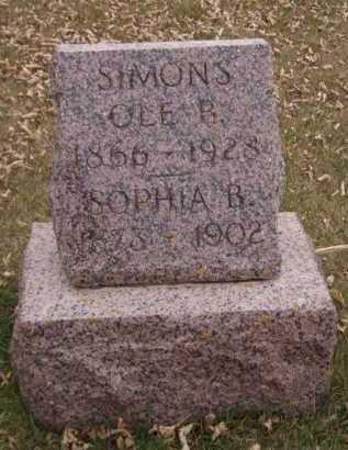 SIMONS, SOPHIA B - Moody County, South Dakota | SOPHIA B SIMONS - South Dakota Gravestone Photos