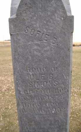 SIMONS, SOPHIE BERTINE - Moody County, South Dakota | SOPHIE BERTINE SIMONS - South Dakota Gravestone Photos