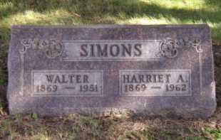 SIMONS, WALTER - Moody County, South Dakota   WALTER SIMONS - South Dakota Gravestone Photos