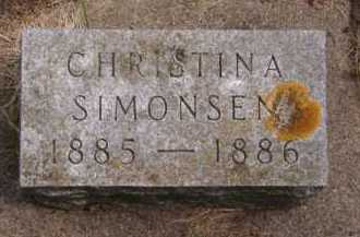 SIMONSEN, CHRISTINA - Moody County, South Dakota   CHRISTINA SIMONSEN - South Dakota Gravestone Photos
