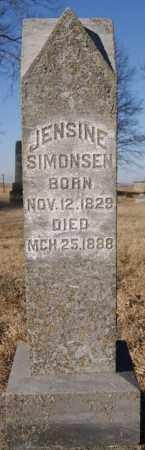 SIMONSEN, JENSINE - Moody County, South Dakota | JENSINE SIMONSEN - South Dakota Gravestone Photos
