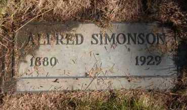 SIMONSON, ALFRED - Moody County, South Dakota   ALFRED SIMONSON - South Dakota Gravestone Photos