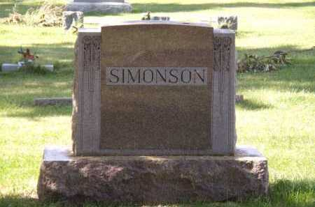 SIMONSON, FAMILY - Moody County, South Dakota | FAMILY SIMONSON - South Dakota Gravestone Photos