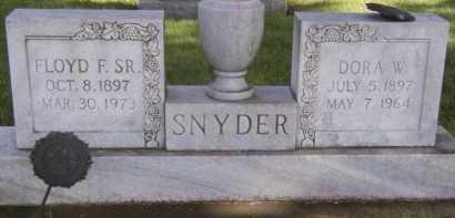 SNYDER, FLOYD F SR - Moody County, South Dakota   FLOYD F SR SNYDER - South Dakota Gravestone Photos