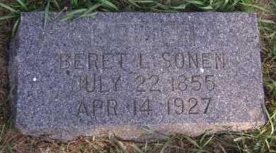 SONEN, BERET L - Moody County, South Dakota | BERET L SONEN - South Dakota Gravestone Photos
