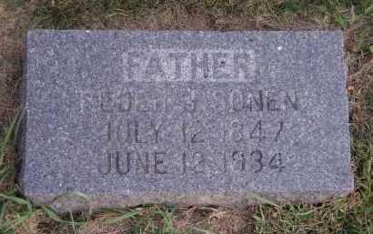 SONEN, PEDER B - Moody County, South Dakota   PEDER B SONEN - South Dakota Gravestone Photos
