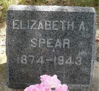 SPEAR, ELIZABETH A. - Moody County, South Dakota | ELIZABETH A. SPEAR - South Dakota Gravestone Photos