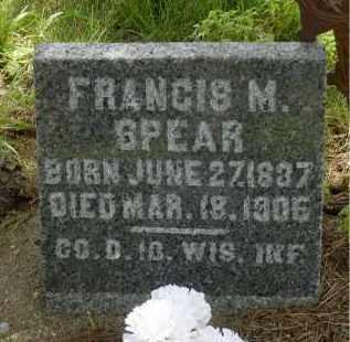SPEAR, FRANCIS M. - Moody County, South Dakota   FRANCIS M. SPEAR - South Dakota Gravestone Photos