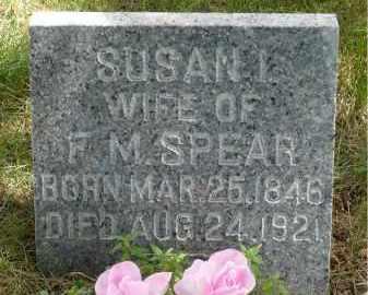 SPEAR, SUSAN I. - Moody County, South Dakota | SUSAN I. SPEAR - South Dakota Gravestone Photos