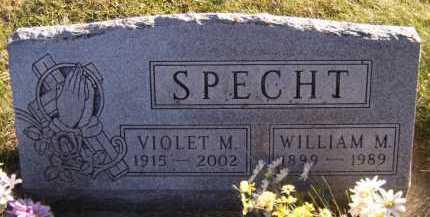 SPECHT, WILLIAM M - Moody County, South Dakota | WILLIAM M SPECHT - South Dakota Gravestone Photos
