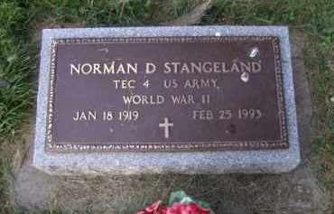 STANGELAND, NORMAN D - Moody County, South Dakota | NORMAN D STANGELAND - South Dakota Gravestone Photos