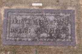 THOMPSON, ARDYCE M - Moody County, South Dakota | ARDYCE M THOMPSON - South Dakota Gravestone Photos