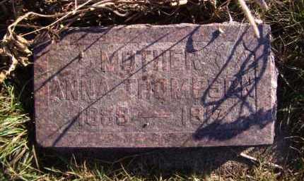 THOMPSON, ANNA - Moody County, South Dakota   ANNA THOMPSON - South Dakota Gravestone Photos