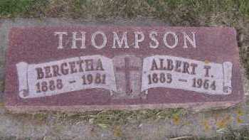 THOMPSON, BERGETHA - Moody County, South Dakota   BERGETHA THOMPSON - South Dakota Gravestone Photos