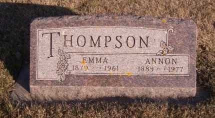 THOMPSON, ANNON - Moody County, South Dakota | ANNON THOMPSON - South Dakota Gravestone Photos