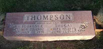 THOMPSON, FLORENCE - Moody County, South Dakota   FLORENCE THOMPSON - South Dakota Gravestone Photos