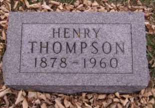 THOMPSON, HENRY - Moody County, South Dakota | HENRY THOMPSON - South Dakota Gravestone Photos