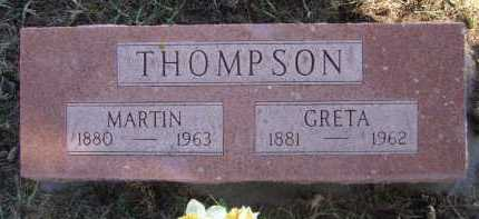 THOMPSON, GRETA - Moody County, South Dakota | GRETA THOMPSON - South Dakota Gravestone Photos