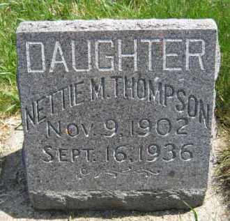 THOMPSON, NETTIE M - Moody County, South Dakota   NETTIE M THOMPSON - South Dakota Gravestone Photos