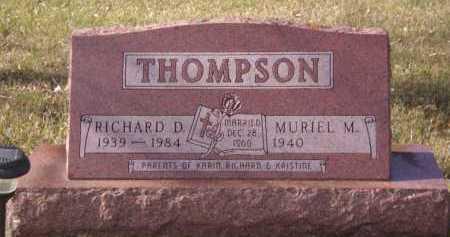 THOMPSON, RICHARD D - Moody County, South Dakota   RICHARD D THOMPSON - South Dakota Gravestone Photos