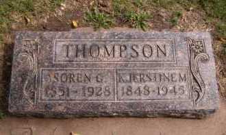 THOMPSON, SOREN C - Moody County, South Dakota | SOREN C THOMPSON - South Dakota Gravestone Photos