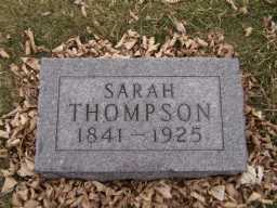 THOMPSON, SARAH - Moody County, South Dakota | SARAH THOMPSON - South Dakota Gravestone Photos