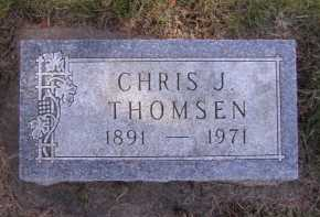 THOMSEN, CHRIS J - Moody County, South Dakota | CHRIS J THOMSEN - South Dakota Gravestone Photos