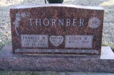 THORNBER, FRANCES M - Moody County, South Dakota   FRANCES M THORNBER - South Dakota Gravestone Photos