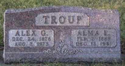 TROUP, ALEX G - Moody County, South Dakota   ALEX G TROUP - South Dakota Gravestone Photos