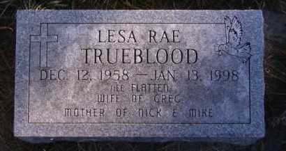 TRUEBLOOD, LESA RAE - Moody County, South Dakota | LESA RAE TRUEBLOOD - South Dakota Gravestone Photos