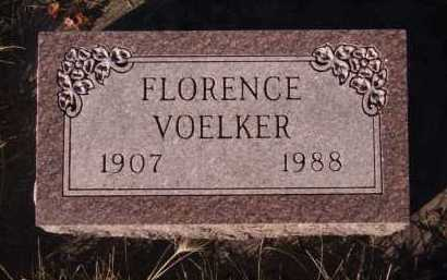 VOELKER, FLORENCE - Moody County, South Dakota | FLORENCE VOELKER - South Dakota Gravestone Photos