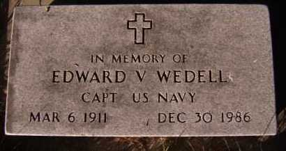 WEDELL, EDWARD V - Moody County, South Dakota | EDWARD V WEDELL - South Dakota Gravestone Photos