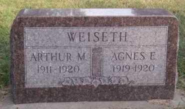 WEISETH, AGNES E - Moody County, South Dakota | AGNES E WEISETH - South Dakota Gravestone Photos