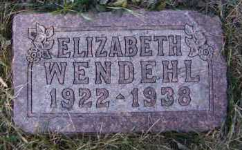 WENDEHL, ELIZABETH - Moody County, South Dakota | ELIZABETH WENDEHL - South Dakota Gravestone Photos