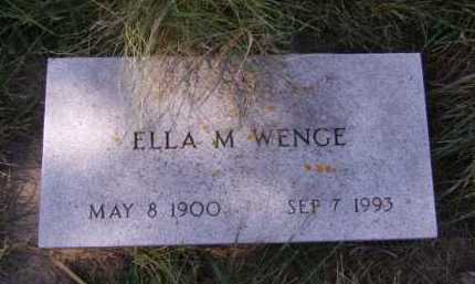 WENGE, ELLA M - Moody County, South Dakota | ELLA M WENGE - South Dakota Gravestone Photos