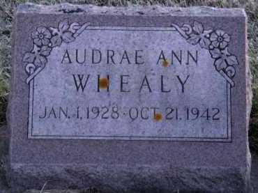 WHEALY, AUDRAE ANN - Moody County, South Dakota | AUDRAE ANN WHEALY - South Dakota Gravestone Photos
